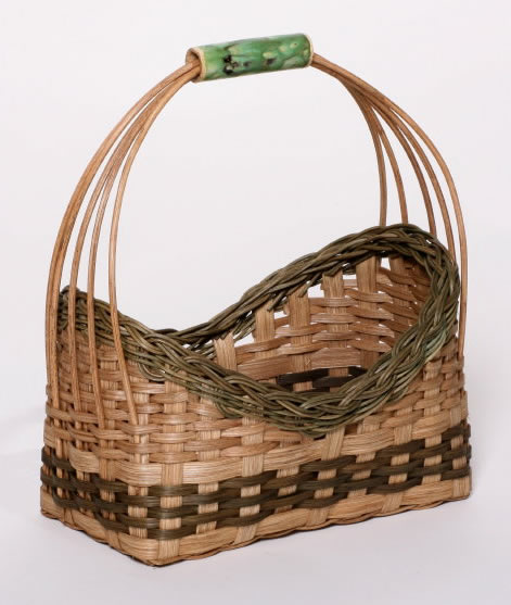 ceramic handle basket